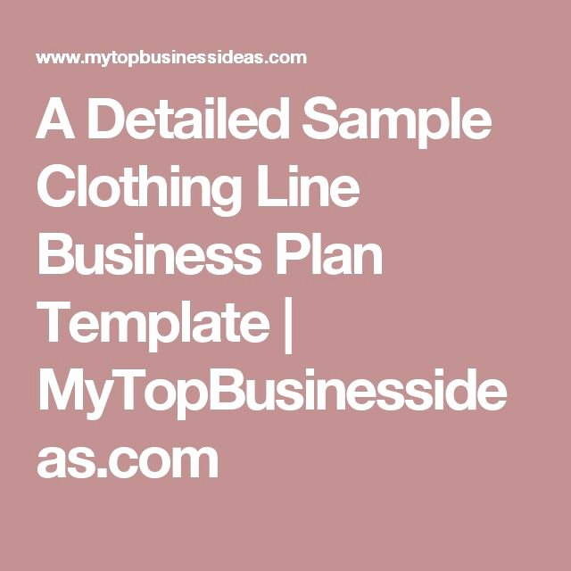 Clothing Line Business Plan Best Of 17 Best Ideas About Clothing Templates On Pinterest