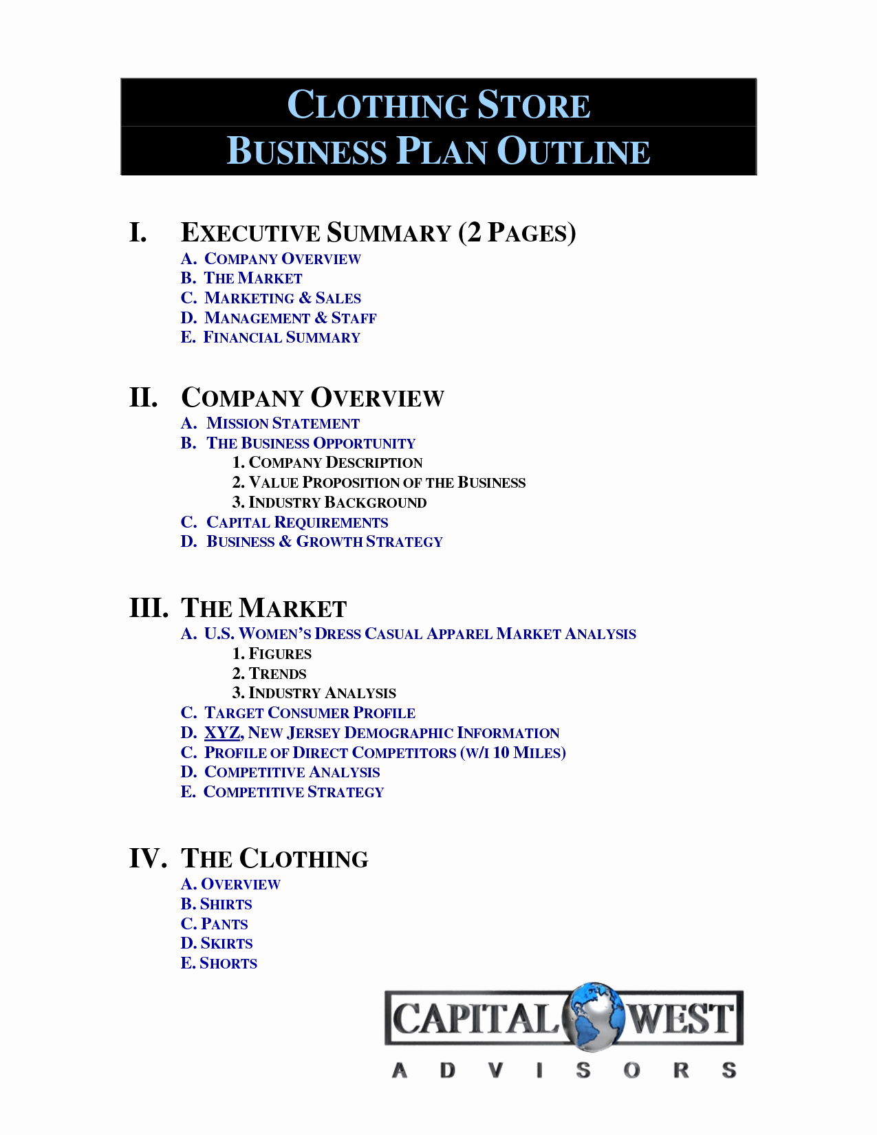 Clothing Line Business Plan New Clothing Line Business Plan Template Free