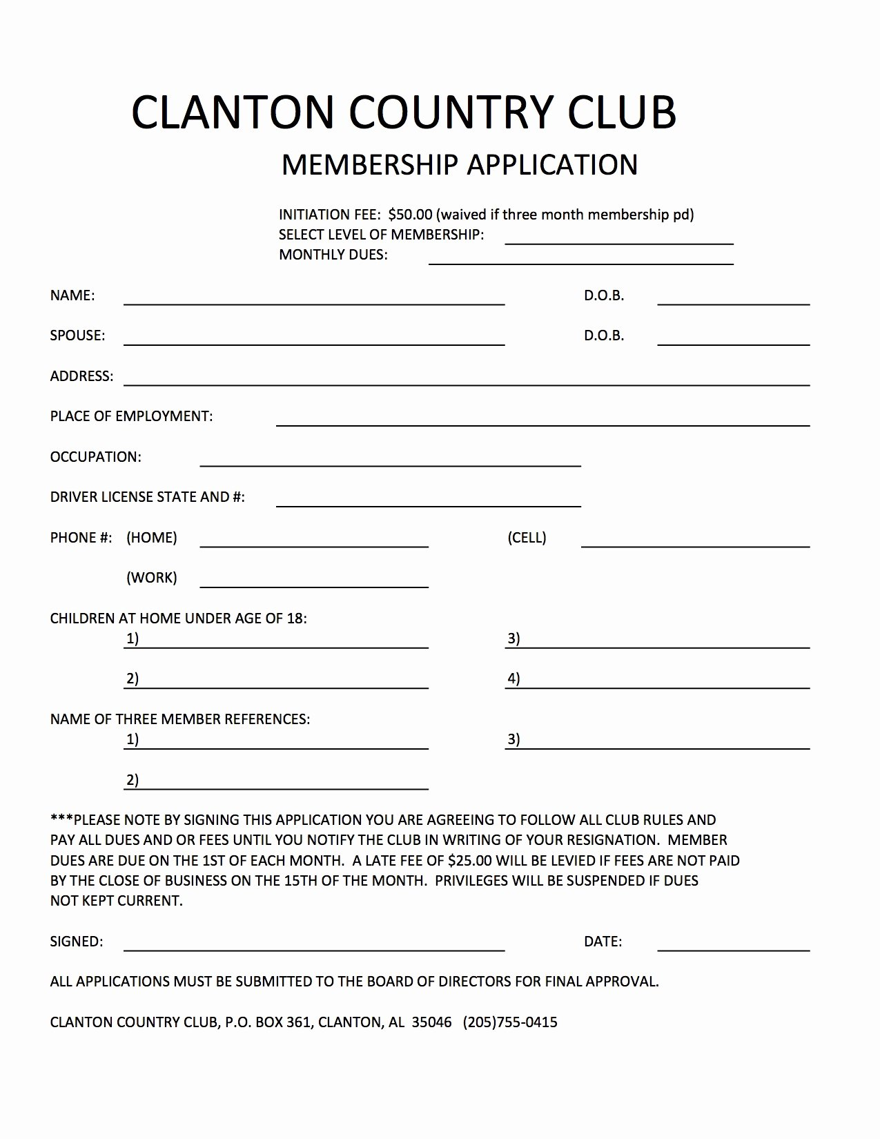 Club Membership Application Template Awesome 30 Of Club Application form Template