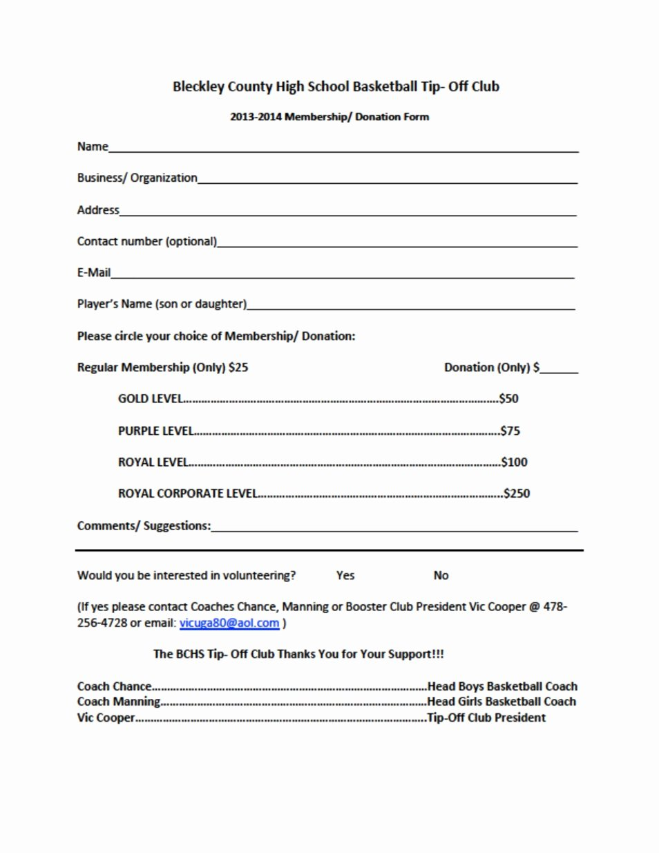 Club Membership Application Template Unique Bchs Tip F Club Seeking Members