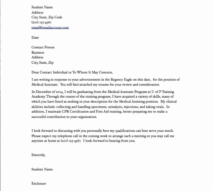 Cna Letter Of Recommendation Luxury Medical assistant Resume Cover Letter Medical assistant