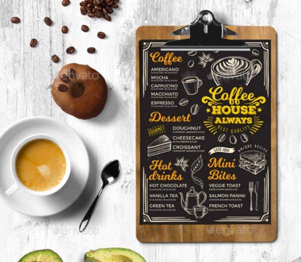 Coffee Shop Menu Template Awesome 13 Coffee Shop Menu Designs & Templates Psd Ai
