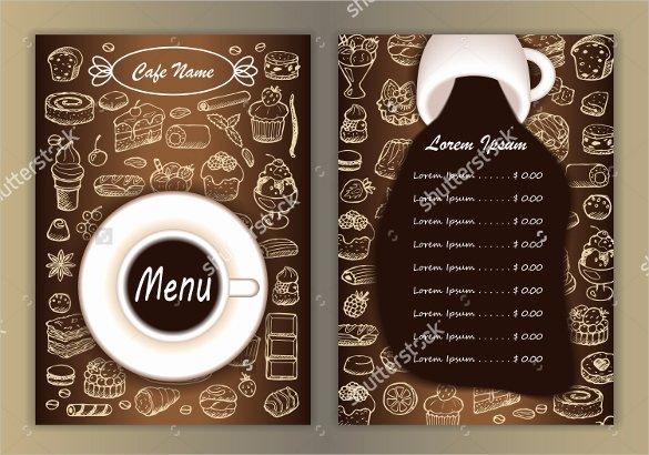 Coffee Shop Menu Template Lovely 20 Coffee Menu Templates – Free Sample Example format