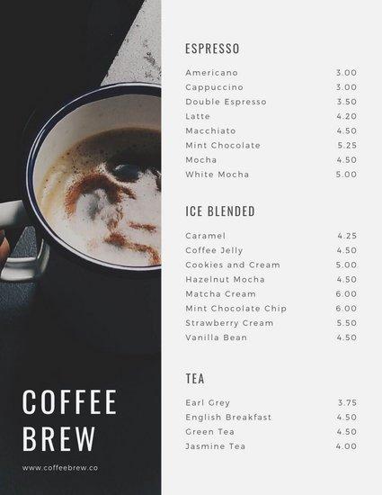Coffee Shop Menu Template Lovely Customize 71 Coffee Shop Menu Templates Online Canva