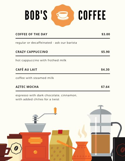 Coffee Shop Menu Template Lovely Customize 71 Coffee Shop Menu Templates Online Canva