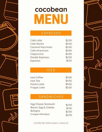 Coffee Shop Menu Template Luxury Customize 71 Coffee Shop Menu Templates Online Canva