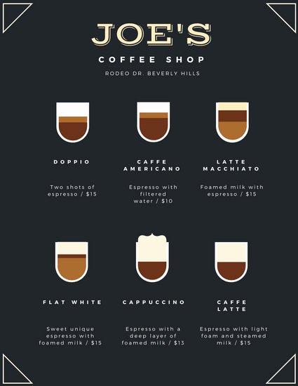 Coffee Shop Menu Template New Customize 283 Coffee Shop Menu Templates Online Canva
