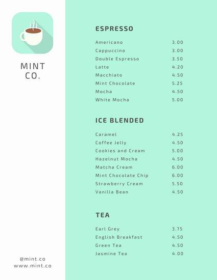 Coffee Shop Menu Template New Customize 69 Coffee Shop Menu Templates Online Canva