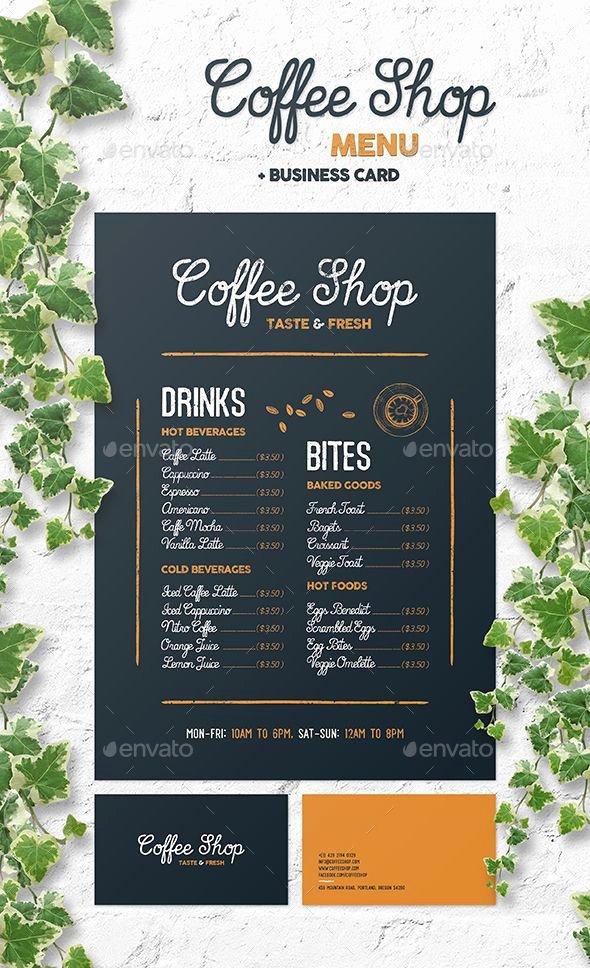 Coffee Shop Menu Template Unique Coffee Shop Menu Template Psd • Customizable and Editable