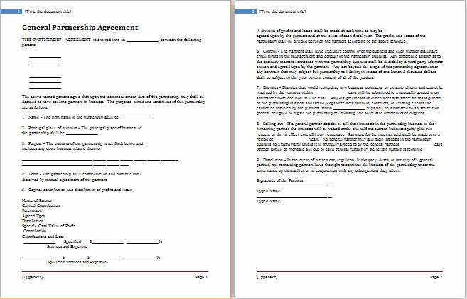Collaboration Agreement Template Doc Unique Partnership Agreement Template for Ms Word