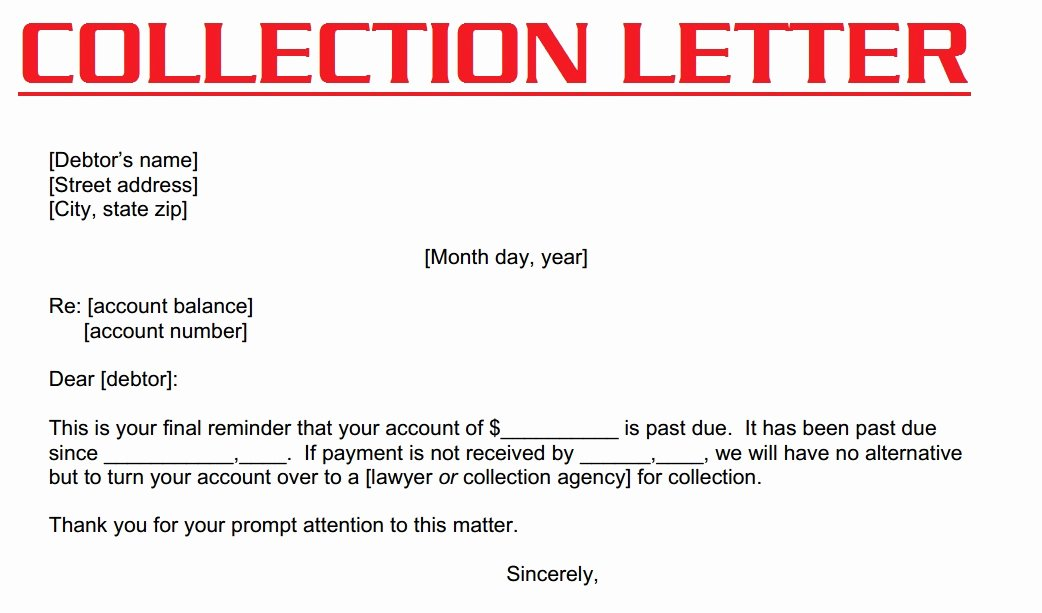Collection Letter Template Free Elegant Collection Letter Template