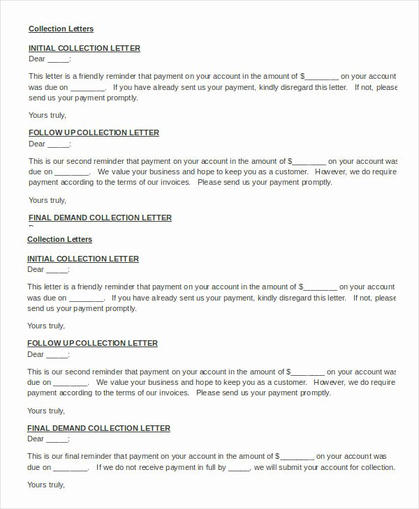 Collection Letter Template Free Fresh 10 Collection Letter Samples Google Docs Ms Word