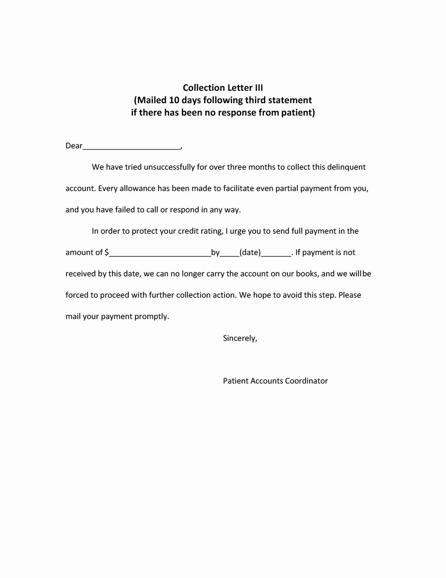 Collection Letter Template Free Luxury 44 Effective Collection Letter Templates & Samples