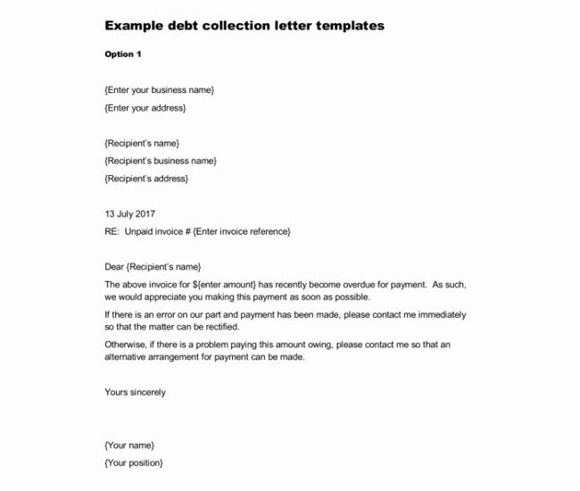 Collection Letter to Customer Elegant Sample Debt Collection Letter Templates for Debtors