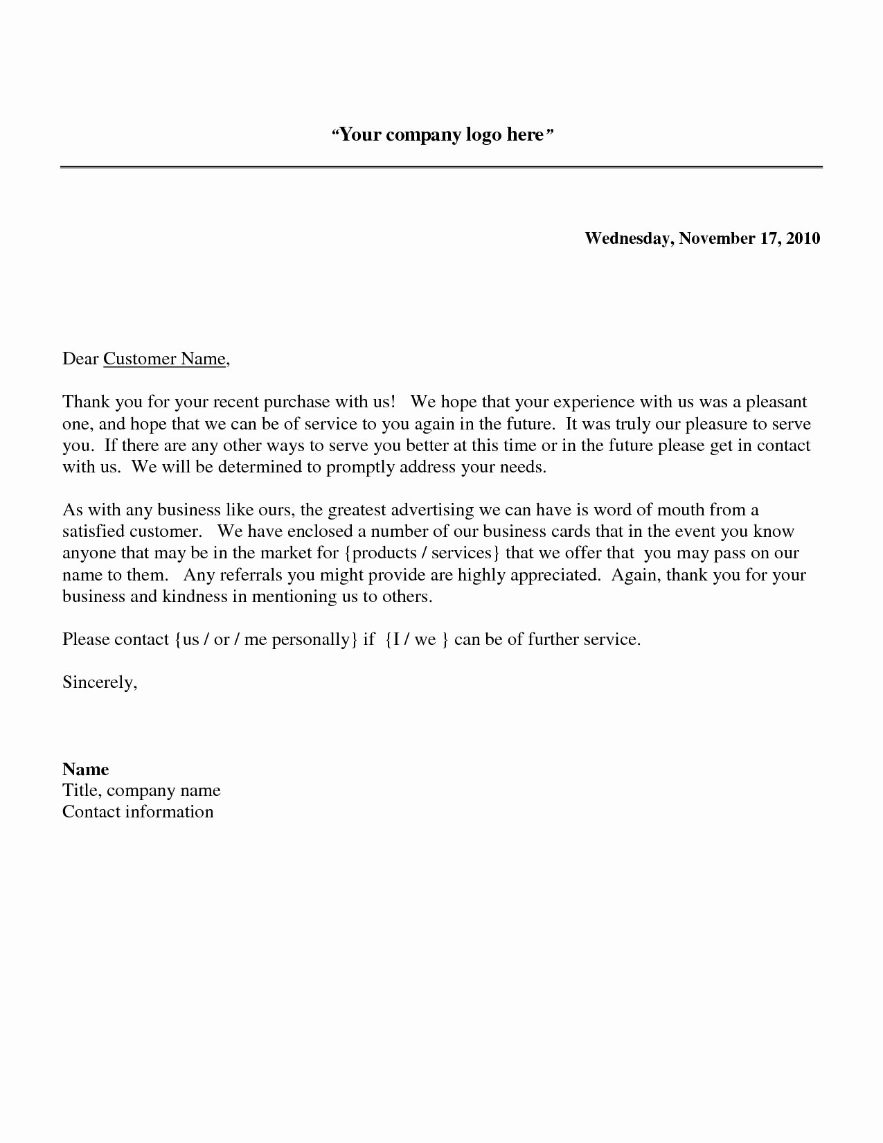 Collection Letters to Clients Elegant Thank You Business Letter Example