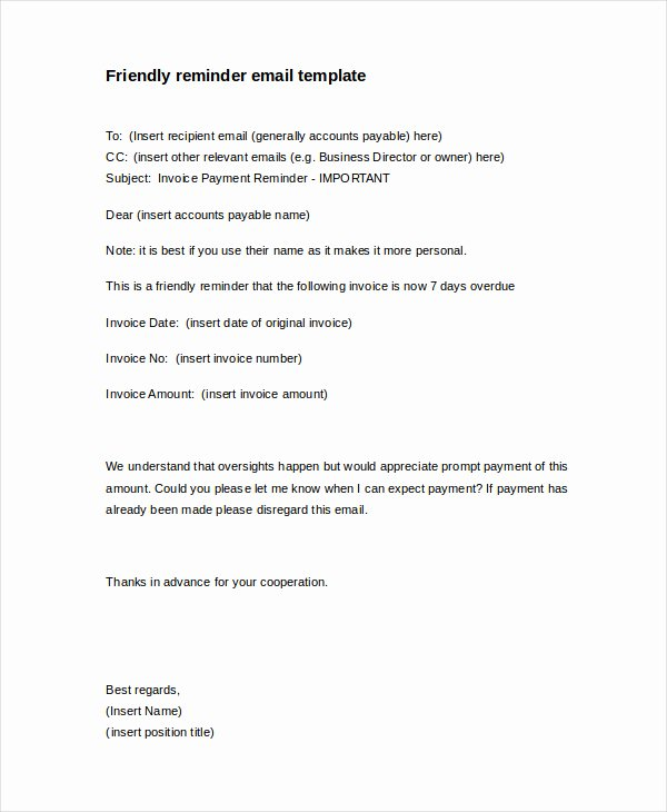 Collection Letters to Clients Lovely Friendly Payment Reminder Letter Sample