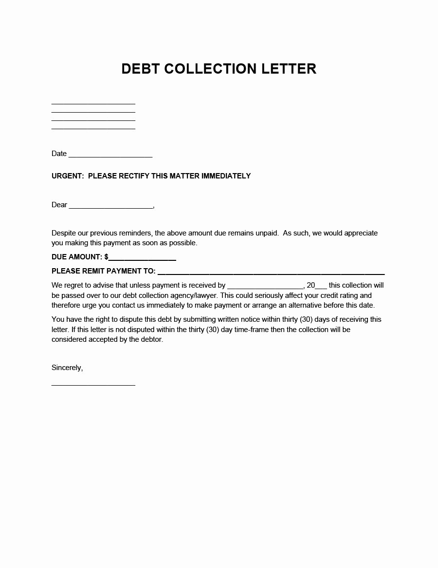 Collection Letters to Customers Inspirational 44 Effective Collection Letter Templates & Samples