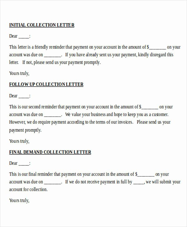 collection letter example