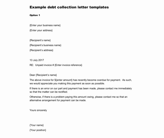 Collection Letters to Customers Unique Sample Debt Collection Letter Templates for Debtors