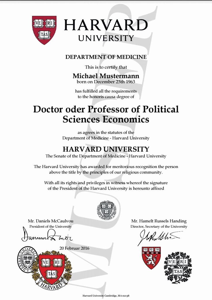 College Degree Certificate Templates Beautiful Doktortitel Kaufen Harvard University