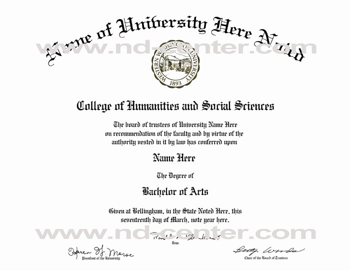 College Degree Certificate Templates Elegant College Diploma Template Pdf