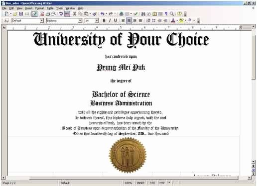 College Degree Certificate Templates Fresh Free Printable College Diploma
