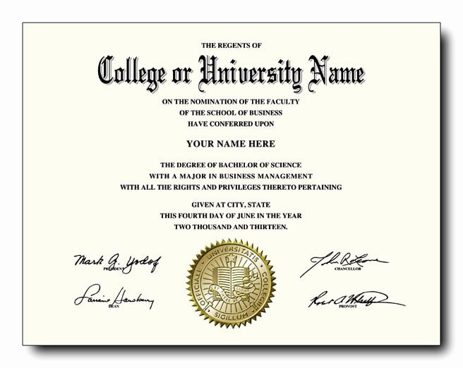 College Degree Certificate Templates New Buy A Realistic Fake College Diploma for Less Than $60