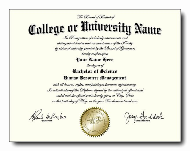 College Degree Certificate Templates New Fake College and University Diplomas Starting at Only $59