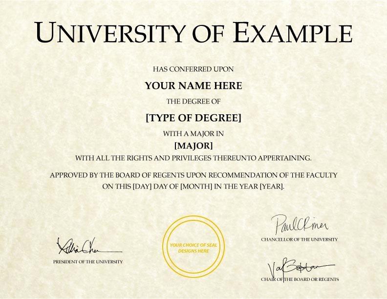 College Degree Certificate Templates New Fake College Diplomas & Certificates