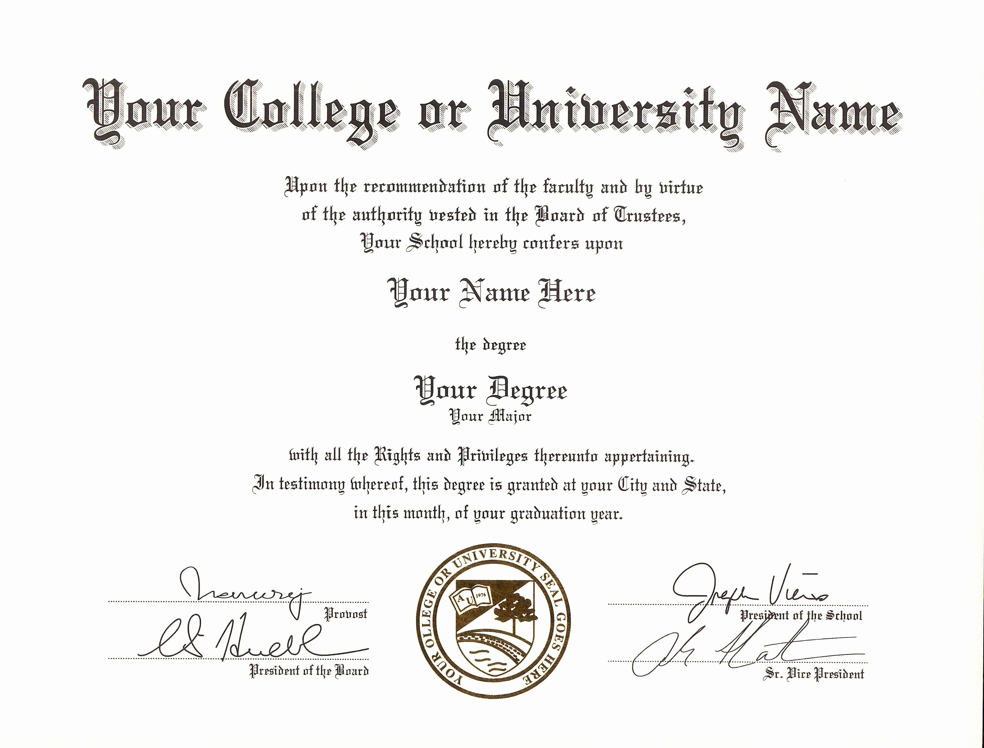 College Degree Certificate Templates New Get Fake Certificates Diplomas & Transcripts with Real