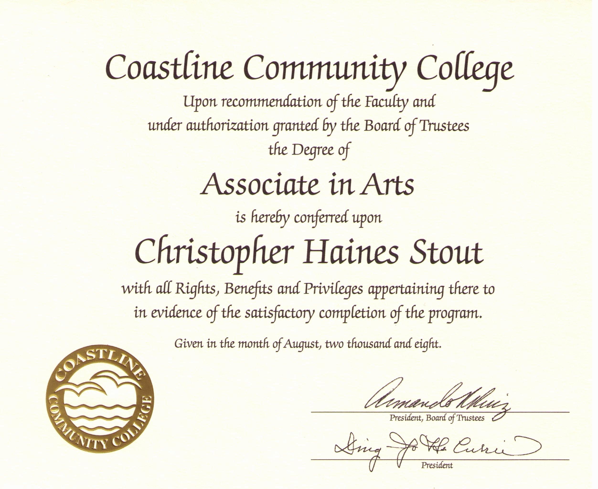 College Degree Certificate Templates Unique Free Printable College Diploma