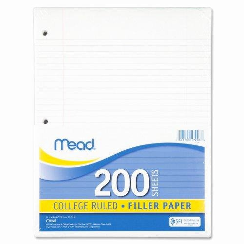 College Ruled Line Paper Lovely Amazon Mead Filler Paper Loose Leaf Paper College