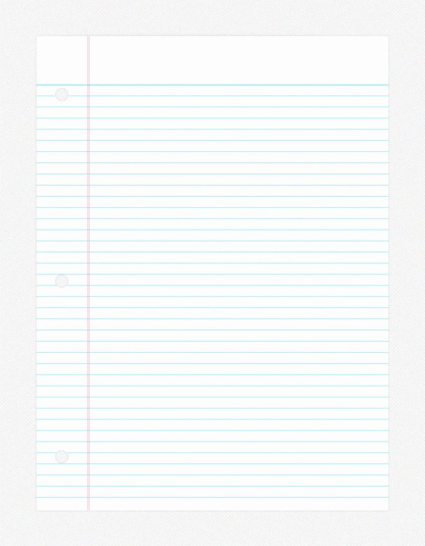 College Ruled Line Paper Luxury 11 Notebook Paper Psd College Ruled Notebook
