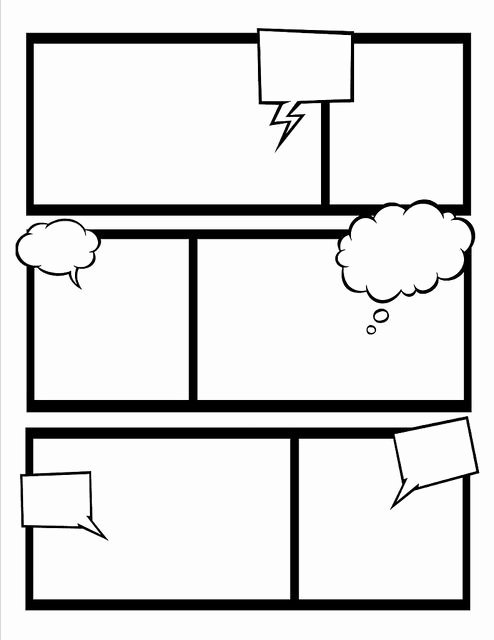 Comic Strip Template Best Of Make Your Own Ic Book with these Templates