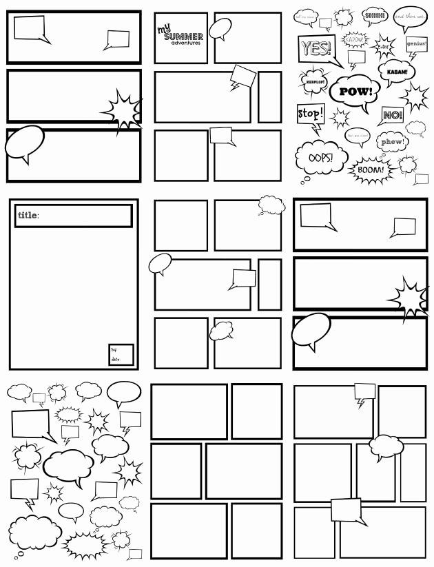Comic Strip Template Luxury Free Ic Strip Templates Great for Kids to Color Cut