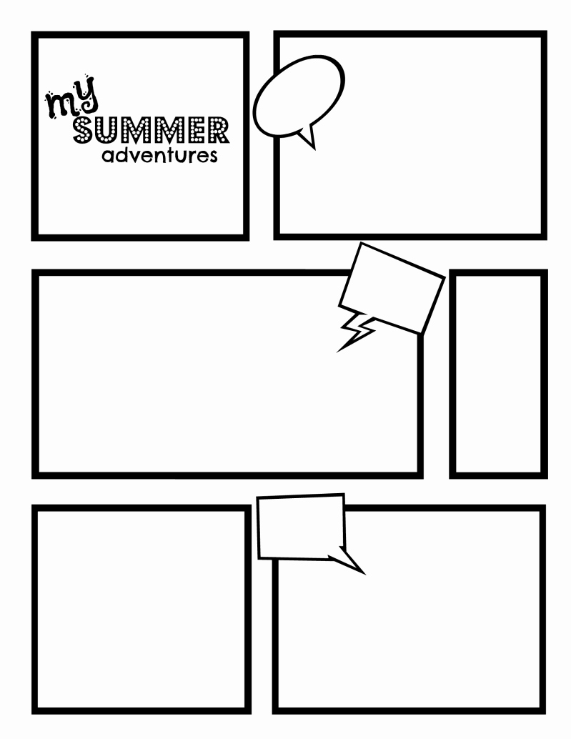 Comic Strip Template New Diary Of A Wimpy Kid