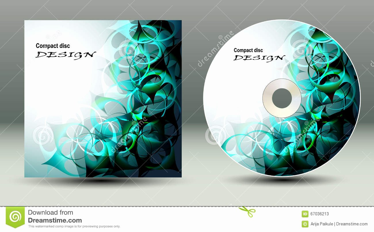 Compact Disc Template Awesome Cd Cover Presentation Design Template Stock Vector