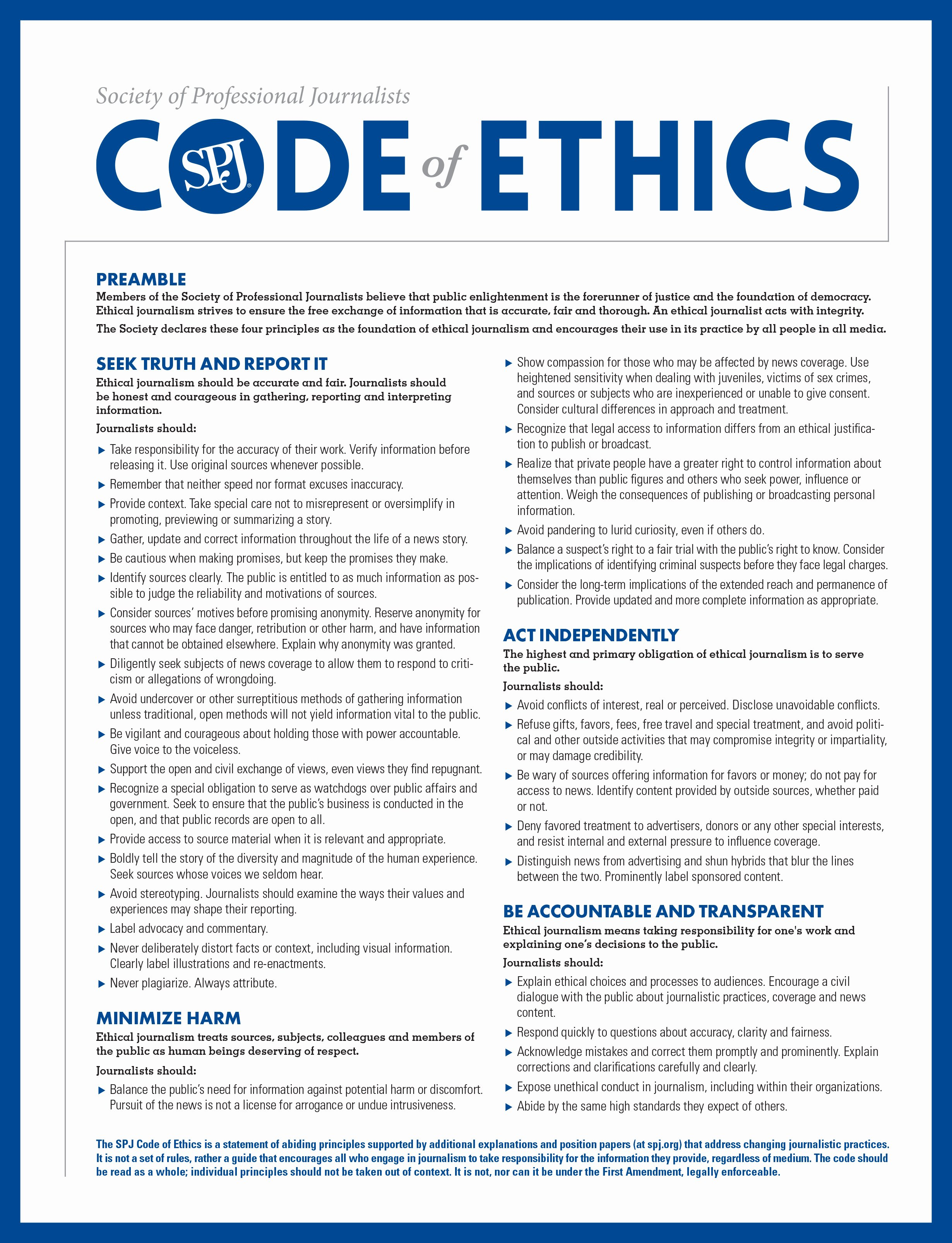 Company Code Of Ethics Example Elegant Ethics