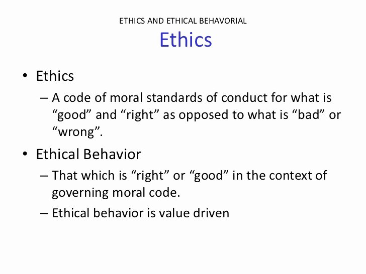 Company Code Of Ethics Example Inspirational Ethics