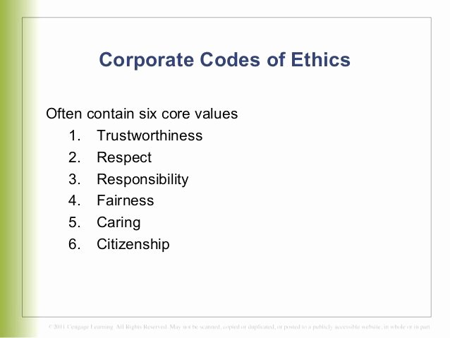 codes of ethicsconduct