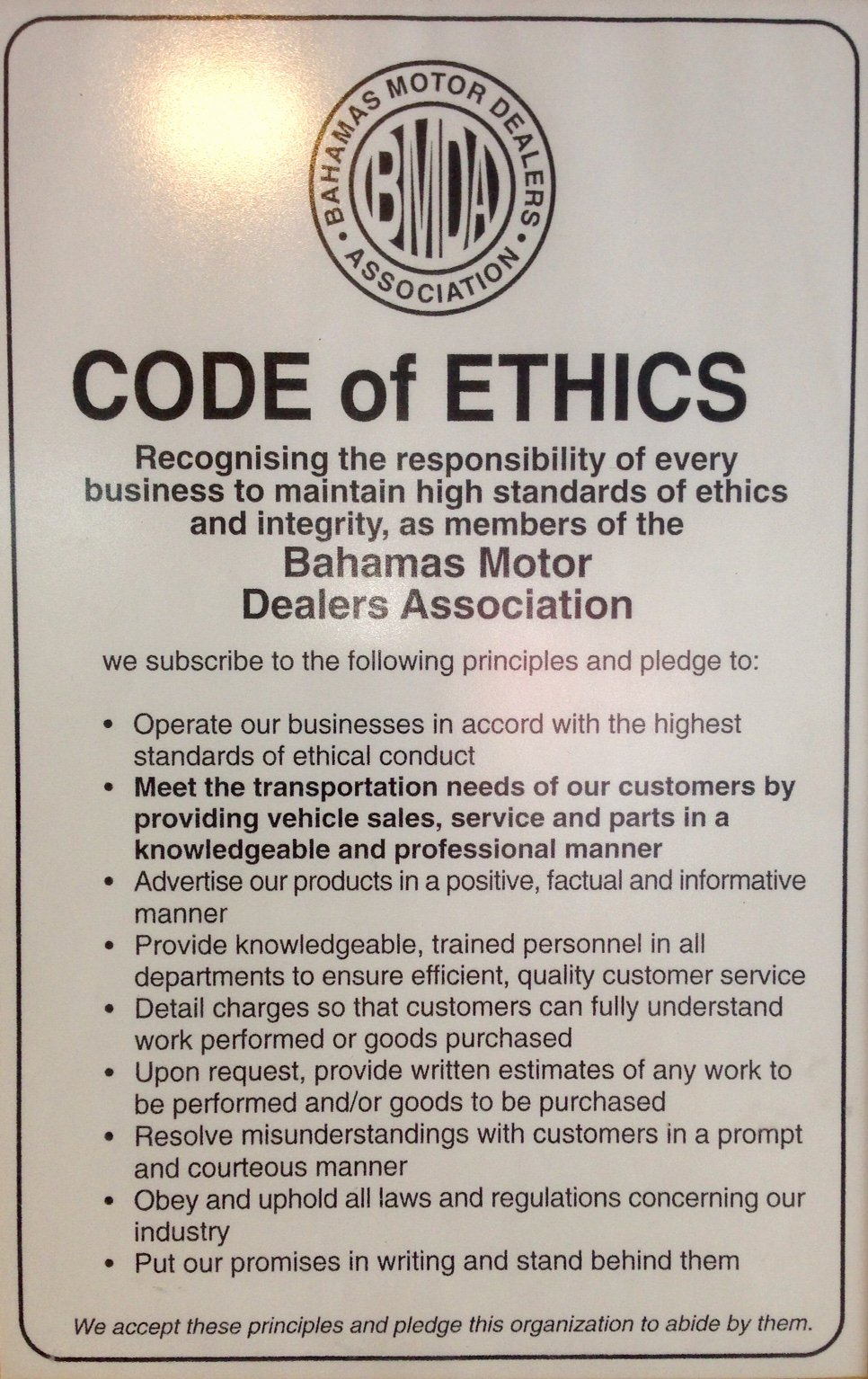 Company Code Of Ethics Example Lovely Our Code Of Ethics