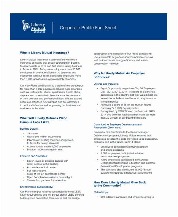 Company Fact Sheet Template Beautiful 32 Fact Sheet Templates In Pdf