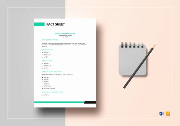 Company Fact Sheet Template Elegant Fact Sheet Template 24 Free Word Pdf Documents
