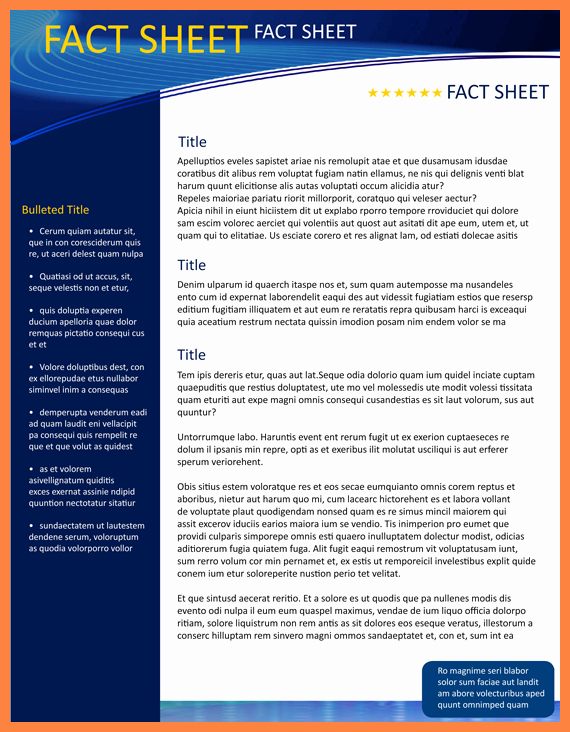 Company Fact Sheet Template Fresh 8 Pany Fact Sheet Template