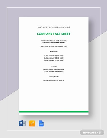 Company Fact Sheet Template New 524 Free Sheet Templates Download Ready Made