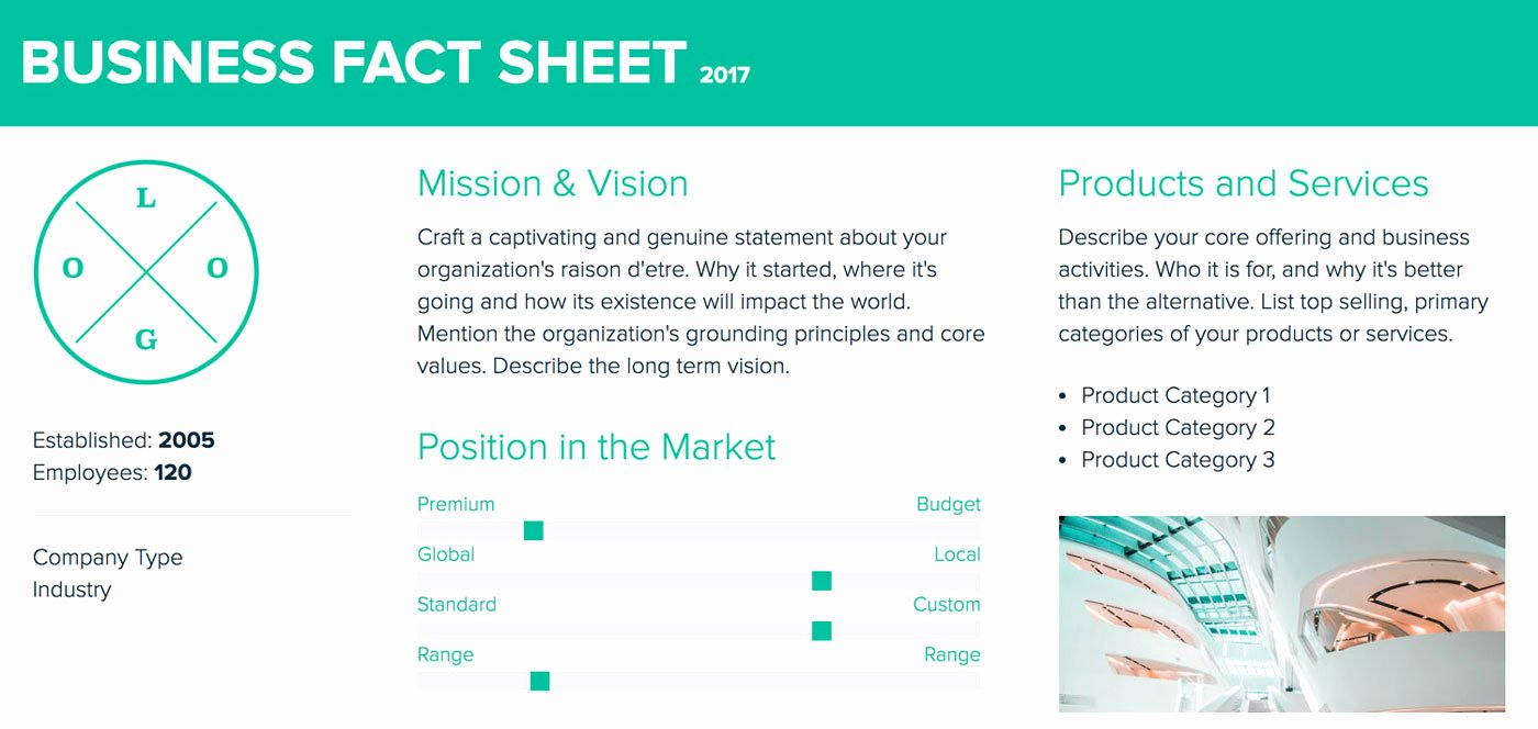 Company Fact Sheet Template New How to Create A Fact Sheet A Step by Step Guide