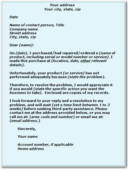 Complaint Letter to Company Elegant How to Help Yourself Ways to solve A Problem with A Business