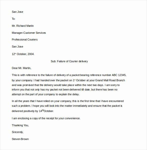 Complaint Letter to Company Luxury 16 Customer Plaint Letter Templates Pdf Doc
