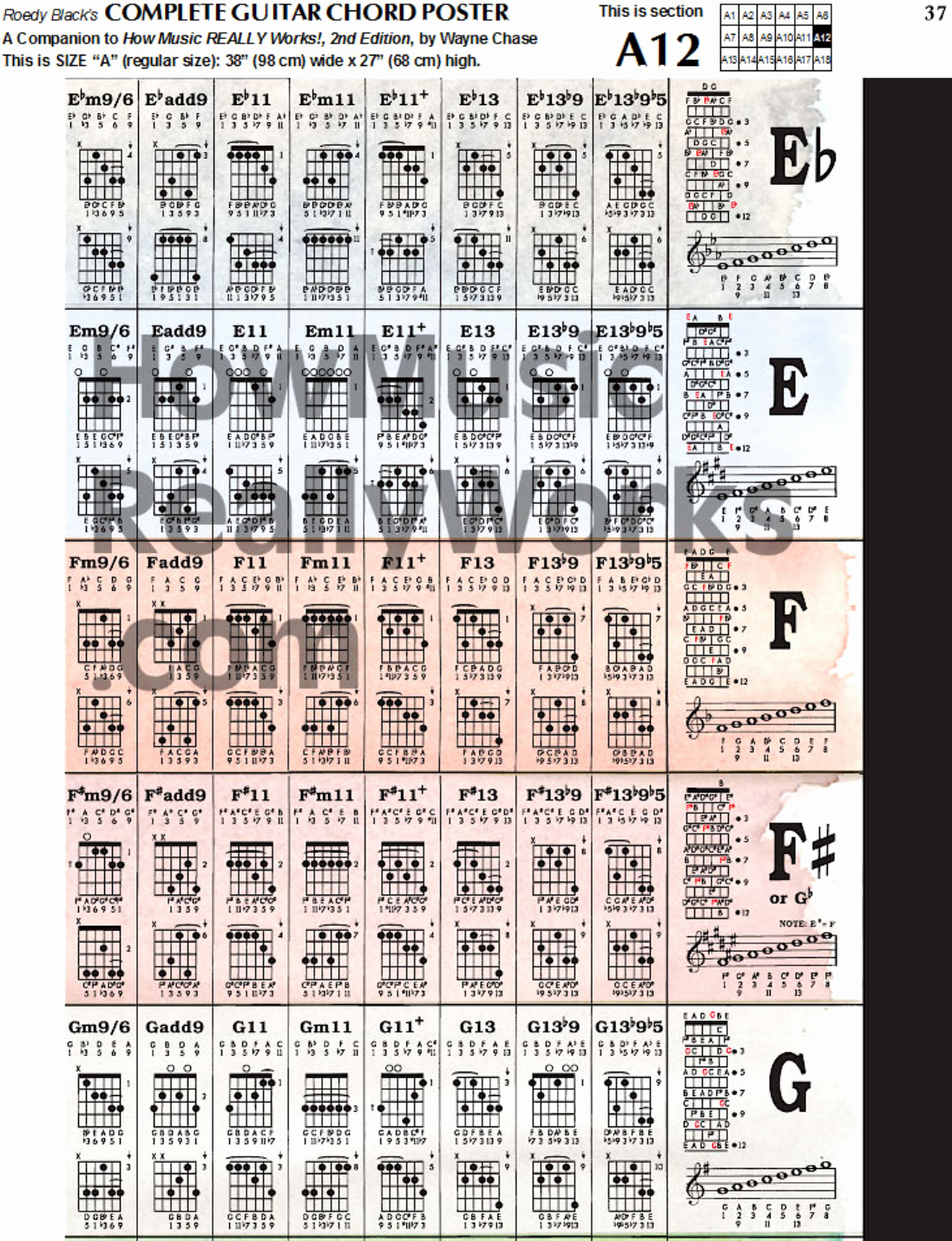 Complete Guitar Chord Chart Awesome Download Plete Guitar Chord Chart Template for Free