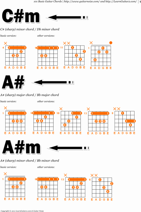 Complete Guitar Chord Chart Lovely Download Plete Bass Guitar Chord Chart for Free